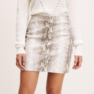 Dynamite Faux Snakeskin Mini skirt